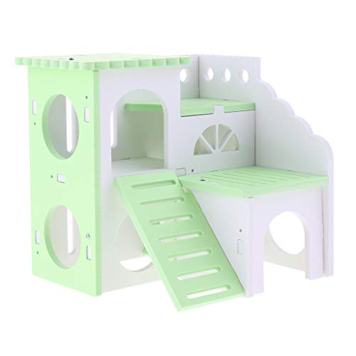 Baosity Hamster House Durable Non-Toxic Hut for Hamster House Castle Natural Living - Self Assembly - Green (Assembly Natural)