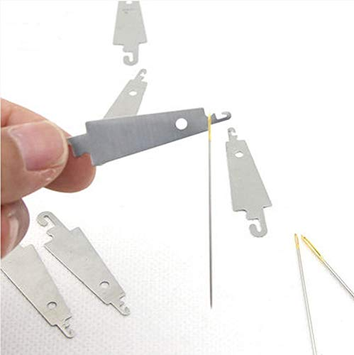 Zamtac Stainless Steel Needle Threader threaders Stitch Insertion Sewing s Accessories - (Cross Stitch Fabric CT Number: 400pcs) by Zamtac