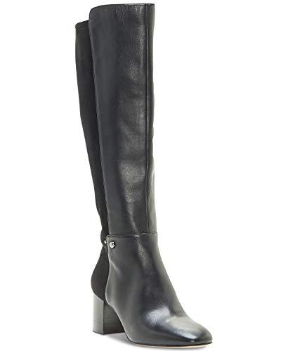 Enzo Angiolini Womens Pakemer 50/50 Leather Almond Toe Knee, Black, Size 7.5