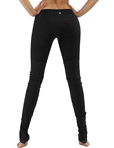 Yoga Reflex Women's Yoga Active Workout Ribbed Leggings Pants Hidden Pocket , Black , XX-Large