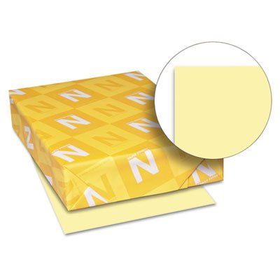 Neenah Paper Exact Index Card Stock, 90 lbs., 8-1/2 x 11, Canary, 250 Sheets/Pack