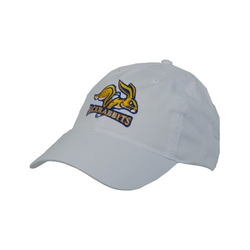 South Dakota State Jacks White Twill Unstructured Low Profile Hat 'SDSU Jack Rabbits'