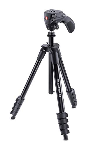 Manfrotto Compact Action Aluminium Tripod with Hybrid Head forEntry Level DSLRs Mirrorless up to 15kg
