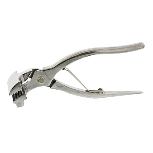 US Art Supply Chrome Canvas Pliers 2 3/8 Inch with Spring Return Handle by US Art Supply