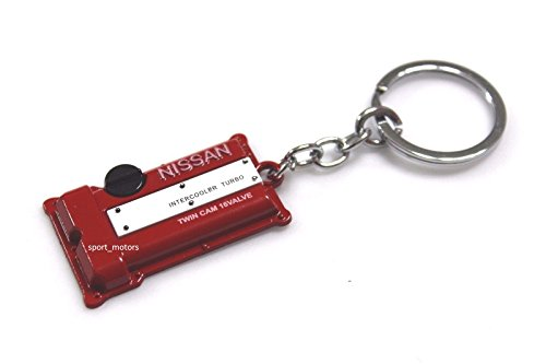 (Nissan SR20DET Style Silvia S13 S14 S15 Engine Valve Cover Keychain (RED))