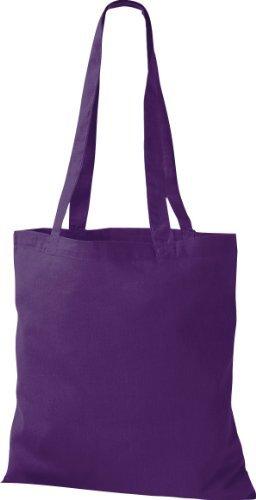 ShirtInStyle Premium Bolsa de tela Bolsa de algodón Bolsa Comprador Bolso de bandolera de muchos colores Púrpura