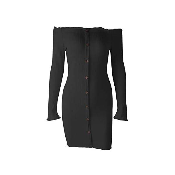 Bodycon Buttons Sexy Mini Dress
