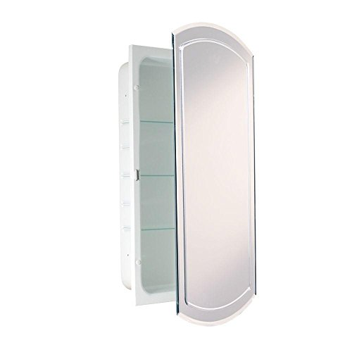 16 in. W x 30 in. H x 4.5 in. D Frameless Recessed V-Groove Beveled Eclipse Bathroom Medicine Cabinet - Merillat Kitchen Cabinets