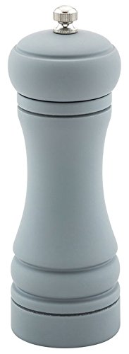 6-IN Classic French Pepper Mill: Perfect for Restaurants, Cafes, and Catered Events – Adjustable Coarseness Pepper Grinder – Matte Gray Environment-Friendly Rubberwood – 1-CT – Restaurantware by Restaurantware