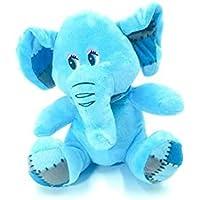 Azul bebé Elefante espigado Flojo con la Bufanda, Felpa Suave Peluche.
