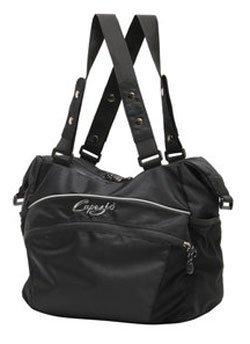 Capezio #B30 Black Canvas Convertible Tote Dance Bag Zipper Closure