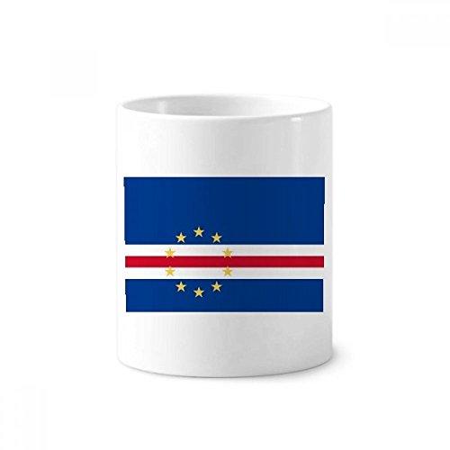 Cape Verde National Flag Africa Country Toothbrush Pen Holder Mug White Ceramic Cup 12oz