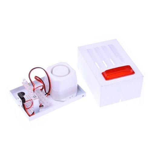 Amazon.com: Sirena con cable con el rojo luz estroboscópica para uso en exteriores Alarma: Electronics
