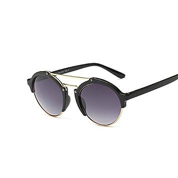 3028b9a96b tocoss (TM) nueva moda las mujeres marca funda parte redonda Vintage Retro  gafas de