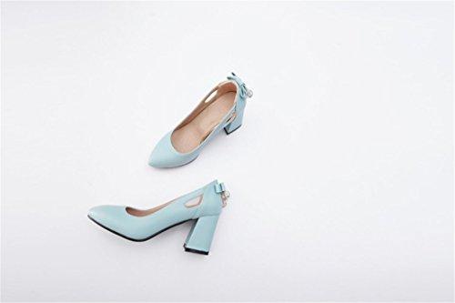 Primavera Talón Durante Zapatos de Mujer Grandes Zapatos Durante de Tacón Pequeña 476b61