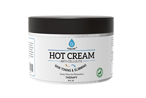 Pursonic Anti Cellulite Muscle Relaxation Hot Cream, Diminish the Appearance Of Varicose Veins, Improves Skin Texture Tightness, Softens Hydrates. Made With All Natural Ingredients