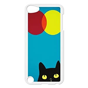 Cat, Sun and Moon Design Discount Personalized Hard Case Cover for iPod Touch 5, Cat, Sun and Moon iPod Touch 5 Cover