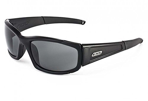 ESS Sunglasses CDI Medium Black with Interchangeable Clear and Smoke Gray - Sunglasses Military Ess