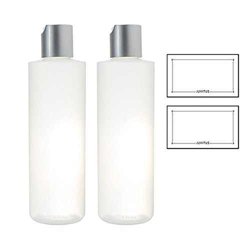 Clear Natural Refillable Plastic Squeeze Bottle with Disc Ca