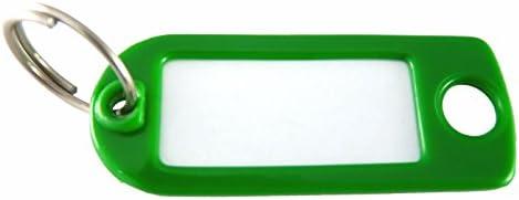 Bunt gemischt 100 Stk. spritzwassergesch/ützte Schl/üsselschilder Schl/üsselanh/änger aus Kunststoff mit S Haken zum Beschriften van den Heuvel