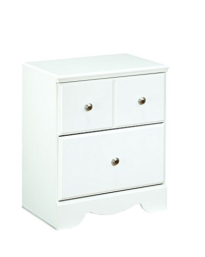Ashley Furniture Signature Design - Weeki Nightstand - Classic Style Bed  Side End Table - Rectangular b30801433