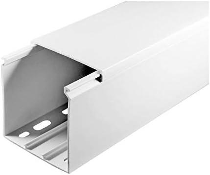 SCOS Smartcosat SCOSKK88 20 m Kabelkanal L x B x H 2000 x 60 x 60 mm, PVC, Kabelleiste, Schraubbar wei/ß