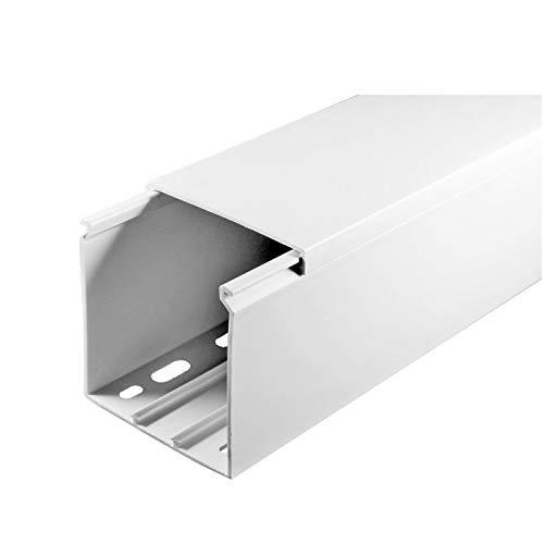 SCOS Smartcosat SCOSKK57  10 m Kabelkanal wei/ß L x B x H 2000 x 60 x 60 mm, PVC, Kabelleiste, Schraubbar