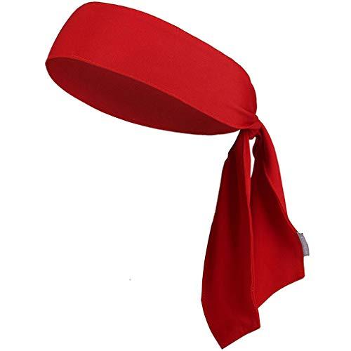 ❤Lemoning❤ Unisex Sports Headband Sweatband with Anti-Slip Headband Yoga Hair Band (Red)