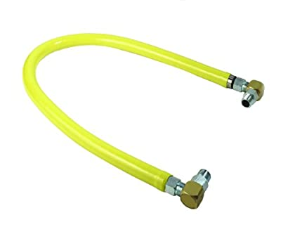 T&S Brass HG-2E-36S Gas Hose, Free Spin Fittings, 1-Inch NPT, 36-Inch Long, Includes Swivelink Fittings