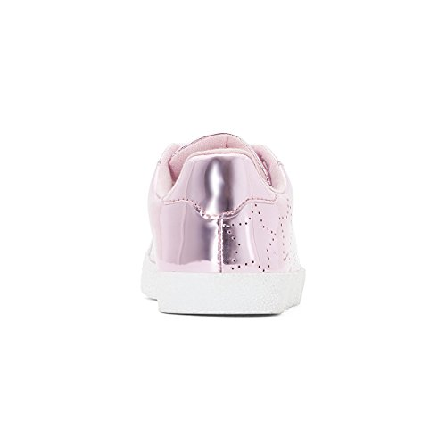 La Redoute Collections Big Girls Metallic Trainers With Punched Star Detail, 26-39 Pink Size 36