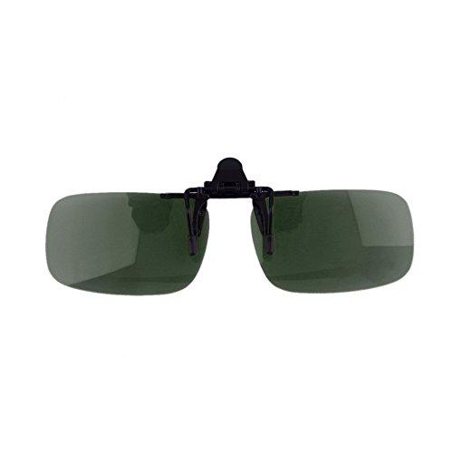 visión lente conducción de Lente en 400 Anti UV con Lente gafas plegable fría nocturna clip la de Dailyinshop de OxzYnO