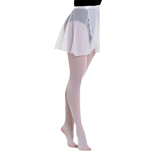 H88 – Women Chiffon Ballet Skirt Dance Skate Wrap Over Scarf Dress Size M