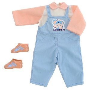 Cicciobello Doll Outfit - Blue Dungarees, Shirt and Shoe ()