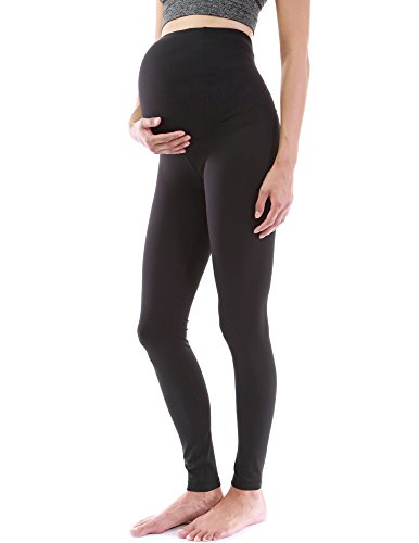 PattyBoutik Mama Shaping Series Maternity Legging Yoga Pants (Solid Black S)
