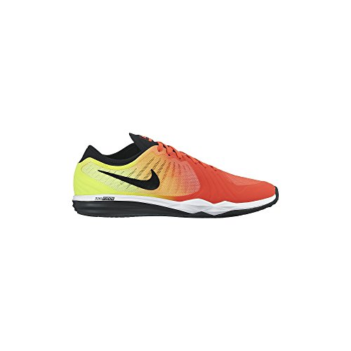 Nike Femmes Double Fusion Tr 4 Impression Brillant Cramoisi / Volt / Laser Orange / Noir 819022-601_8.5