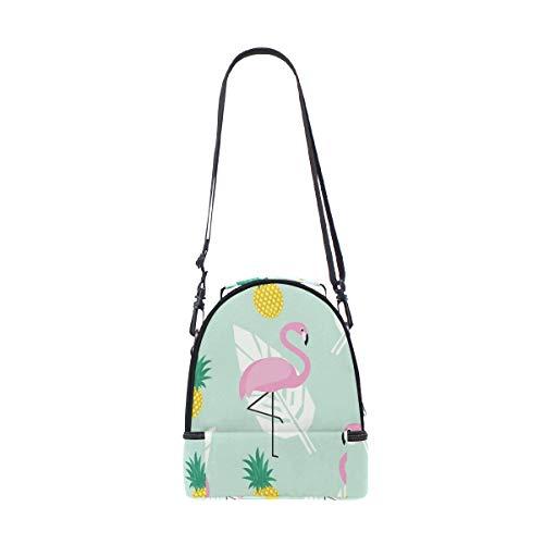 Bolsa Flamingo FOLPPLY correa el piña con térmica hombro ajustable para de diseño qwUpC65w