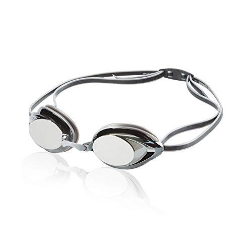 Speedo Vanquisher 2.0 Mirrored Swim Goggle, Silver/Grey, One Size reviews
