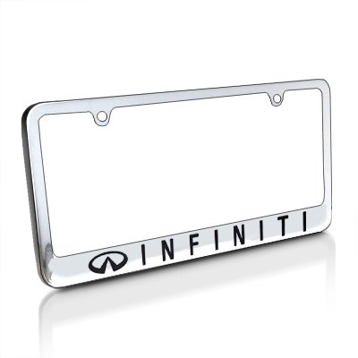 Infiniti Chrome Metal License Plate Frame with Logo Screw - Frame License Infiniti For Plate