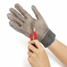 WALID@Safety Cut Proof Stab Resistant Stainless Steel Metal Mesh Butcher Gloves by other