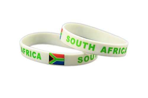 (Forest Country Flag Unisex Silicone Bracelet Rubber Sports Fashion Wristband(South Africa,one size))