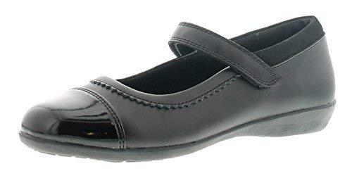 Princess Stardust Tizz Niño Niña Zapatos de Colegio Negro - Negro - GB Tallas 1-13 - Negro, 32.5 EU: Amazon.es: Zapatos y complementos