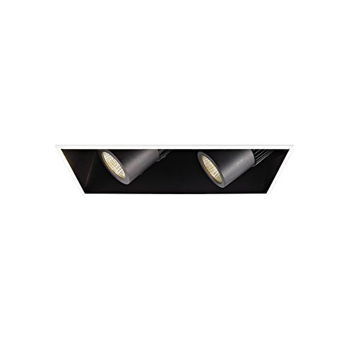 WAC Lighting MT4LD211NE-F30-BK Contemporary Precision Multiples 4-Inch LED 1X2 Housing by WAC Lighting