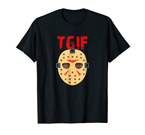 TGIF Funny Thank God It's Friday Halloween Scary Movies Tee ()