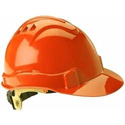 Gateway Safety 72216 Serpent High Density Polyethylene Safety Helmet with Ratchet Suspension, Type I/Class E, Hi Viz Orange