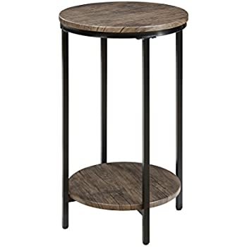 Abington lane antique wood finish two tiered - Antique side tables for living room ...