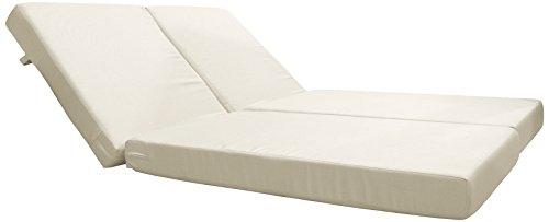 Hospitality Rattan X-9228-CUSH Optional Cushions for Soho Daybed, Sunbrella Dupione Bamboo - Dupione Bamboo Fabric