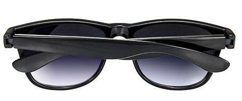 de negro Black sol Gafas ahumados con ochentero Negro diseño 4sold cristales unisex Black TM 7PwWxfnTE