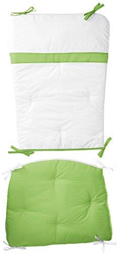 Baby Doll Bedding Rocking Chair Cushion Pad Set, Green (Apple Chair Pad)