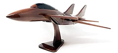 F-14 Tomcat Replica Aircraft Model Hand Crafted with Real Mahogany Wood