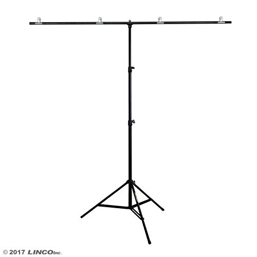 Linco Lincostore Zenith Portable T-Shape Background Backdrop Stand Kit 5x6.7ft - 5ft Wide (Fixed) and 6.7ft High (Adjustable)- Lightweight Only 4 Lbs Easy to Carry and -